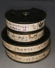lot 4 Bobines Film 9.5 mm Pathé Baby 1931 1932 LE TOUQUET le PRE-CATELAN Vélo ..