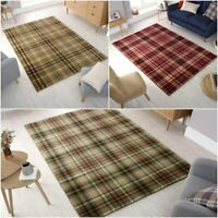 Highland Classic Tartan Check Design Soft Rug Hall Long Runner Carpet