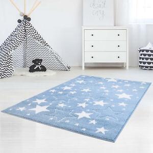 Kinderteppich - Sterne - Blau - *Kaya Teppich*