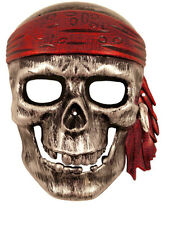 Classic Silver Full Face Pirate Masquerade Mask,Venetian Style Ball Unisex Mask