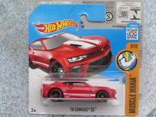 Hot Wheels 2016 #129/250 2016 CAMARO SS red Muscle Mania Case Q New Casting