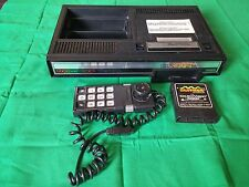 Vintage Coleco Vision original black game console with Slither Untested