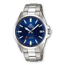 orologio da uomo Casio Edifice acciaio inox minerale data fondo vite 10 WR 42 mm