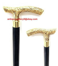 New listing Vintage Brass Royal Derby Design Style Wooden Walking Stick Cane Gift For Adults