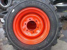 Two 25850x14 Carlisle Loader Skid Steer Rim Guard Tires Withwheels