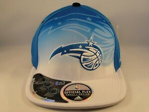 Orlando Magic NBA Adidas Flex Hat Draft Cap Size S/M Blue White