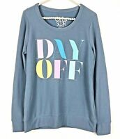 NWT Chaser Day Off Pullover Sweatshirt Teal Blue Womens Size Medium