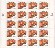 1998 USPS Red Fox: $1 One Dollar Stamp, Sheet of 20,  Self ADHESIVE  NEW