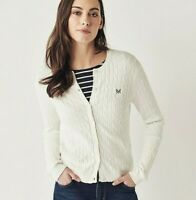 Crew Clothing Women's Cable Cardigan - Optic White - RRP £55