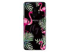 Samsung Galaxy S9 - Carcasa Flexible Transparente Y Resistente (Flamenco Rosa 2)