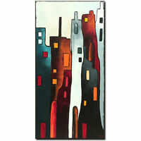 NOVAARTE Abstrakte Malerei Kunst Acryl Bild Gemälde Modern ORIGINAL Stadt UNIKAT