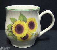 Sunflower Bulbous English Fine Bone China Mug Cup By Milton China