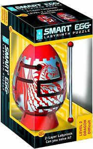 RED DRAGON Smart Egg Difficult Red Dragon 2-layer Labyrinth Puzzle Difficult