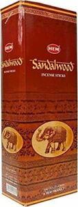HEM - Sandalwood Incense Sticks - Pack of 6 - 120 count - 301g