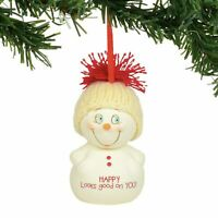 Dept 56 Snowpinions 2019 HAPPY LOOKS GOOD ON YOU Snowpinion Ornament 6003267