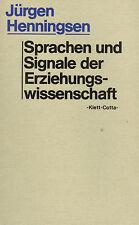 Jürgen Henningsen, lingue u segnali D Scienze educazione, velcro-cotta 1980