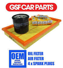 Service Kit Oil Air Filter Filtration S & Spark Plugs Fits Nissan Almera 1.5 1.8