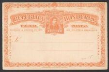 Honduras 1891 2c orange postal card unused HG #9