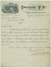 RARE -  1897  Buffalo Bicycle Co  Letterhead  Buffalo  NY  - Envoy Fleetwing