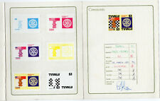 rare echecs, chess,  proof epreuve de luxe  signed TUVALU 1986