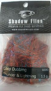 "SHADOW FLIES 1.5g  ""  LOOP DUBBING  ""  Color: Thunder & Lightning"