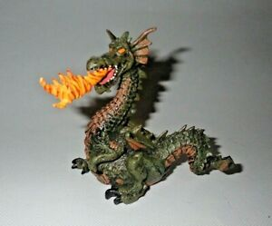 1999 Papo Fire Breathing Dragon Figure Medieval Fantasy Toy Vintage