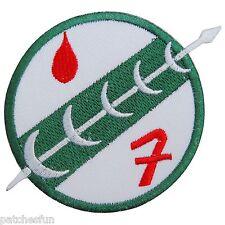 Star Wars White Boba Fett Mandalorian Badge Logo Embroidered Iron on Patch #1415