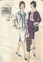 1960s Vintage VOGUE Sewing Pattern B36 SUIT - BLOUSE SKIRT JACKET (1766R)