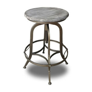 NEW! RUSTIC RETRO CHESTER BARSTOOL - STEEL ROTATING COPPER BAR STOOL-SET OF 2