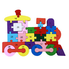 Wooden Alphabet Train Jigsaw Puzzle Kids Toys Educational Learning Toy CP