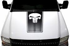 Vinyl Decal Punisher Hood Stripe Wrap Kit for Ford F-250/F-350 99-06 Matte Black