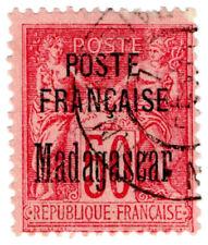 (I.B) Madagascar Postal : Overprint 50c