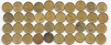 Dealer Flea Market Coin Lot: 40 Mixed Date Israel 5 Agorot 1960-1979 Alum-Bronze