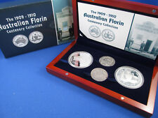 2005 2008 TUVALU $1 1OZ SILVER PROOF COIN - FLORIN CENTENARY COLLECTION -