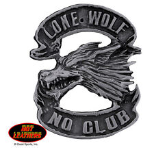 Pewter Badge Lone Wolf No Club Motorcycle Biker Cruiser Made In U.S.A