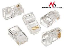 100 Netzwerkstecker Anschluss Stecker Modular Crimp RJ45 8P8C CAT5 Geschirmt