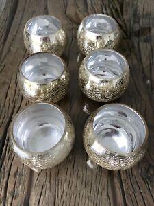 Gold Mercury Effect Glass Votives - House Decore - Wedding Table Decoration