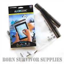 GENUINE aLOKSAK WATERPROOF STORAGE BAG 8 x 11 - iPad Tablet Case Loksak Dry Sack