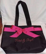 Tastefully Simple Consultant Logo Tote Party Bag ~ Black & Pink
