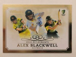 2020 / 21 TLA Cricket Traders Alex Blackwell Retirements Case Card R2/3 #3/50