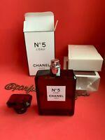 Chanel No. 5 L'EAU Eau de Toilette 3.4 FL. OZ. / 100 ml Red Limited Edition NEW!