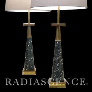 STIFFEL ATOMIC MODERN  BRASS TOMMI PARZINGER TABLE LAMPS JACKSON Pollock 1950S