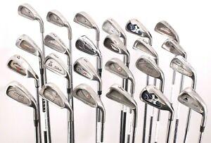 Lot of 24 Golf Single Long Irons Ping Adams Hogan Callaway Cobra Titleist Armour