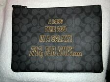 Coach X Star Wars Large Pouch in Signature Canvas With Scroll Print F88119