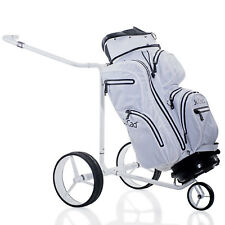 """jucad Golf """" White Swan """" Electric Trolley/electrocaddy from Titan with Bag"""