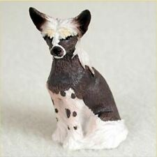 Chinese Crested Tiny Ones Dog Figurine Statue Pet Resin