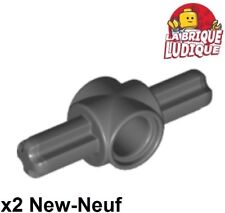 Lego technic 2x Axe Axle pin connector connecteur hub gris f/d b gray 27940 NEUF