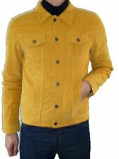 Mens NEW Jacket Coat Mustard Yellow Corduroy indie mod retro vtg Cord 60's 70's