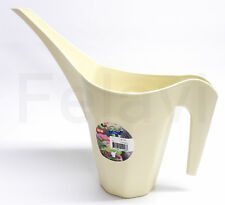 Blumengießkanne Kunststoff Gießkanne 1,5 Liter, Blumen Bewässerung Creme (F25)