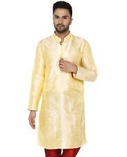 Men Kurta  Long Sleeve Dress Button Down Regular Fit Silk Casual Long Shirt